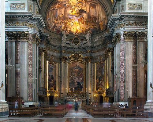 Interni della Chiesa di Sant'Ignazio di Loyola in Campo Marzio