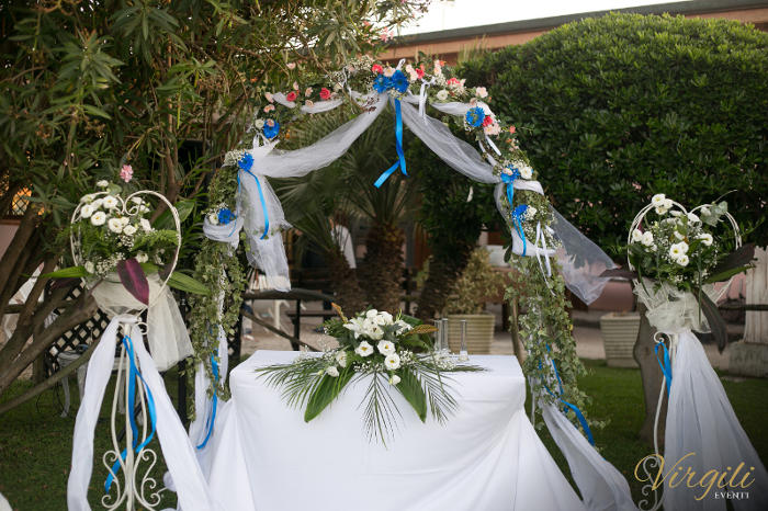 Addobbo floreale rito civile- Matrimonio Giancarlo e Lucia a Passoscuro