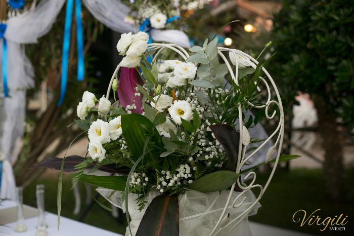 Dettaglio alzata di fiori - Matrimonio Giancarlo e Lucia a Passoscuro